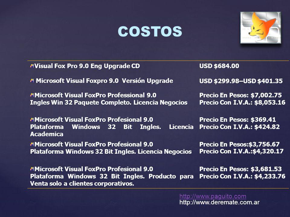 COSTOS http://www.paguito.com http://www.deremate.com.ar