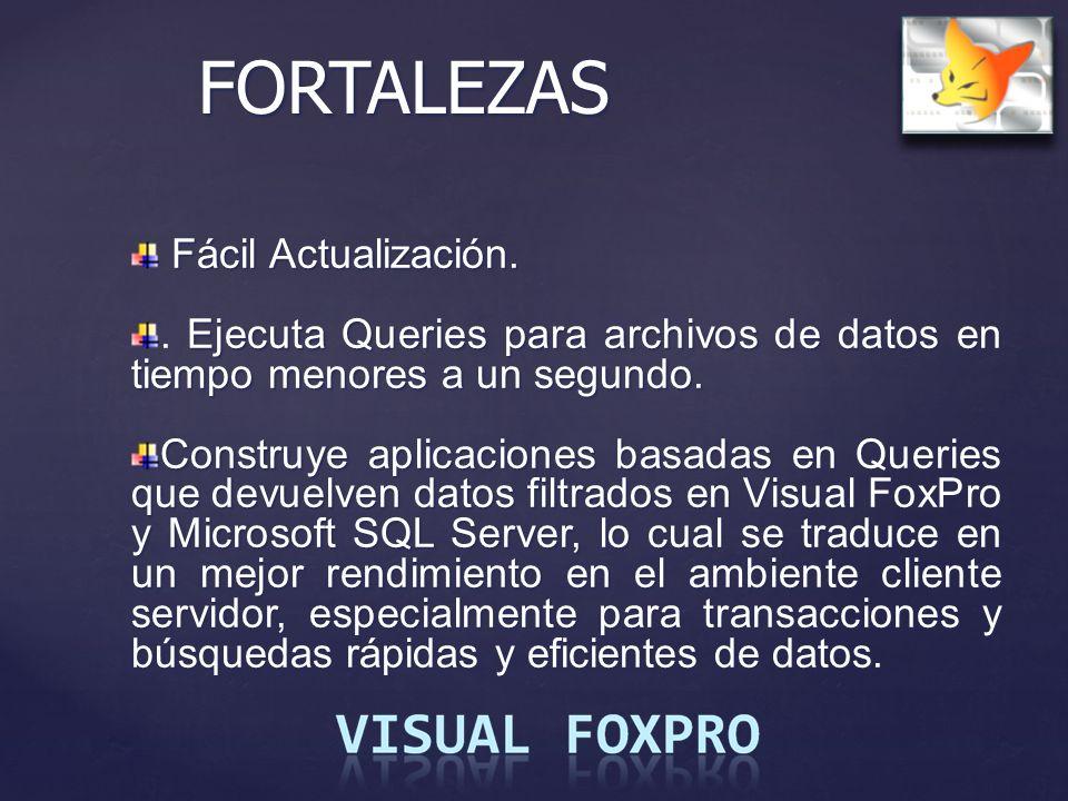 FORTALEZAS Fácil Actualización.