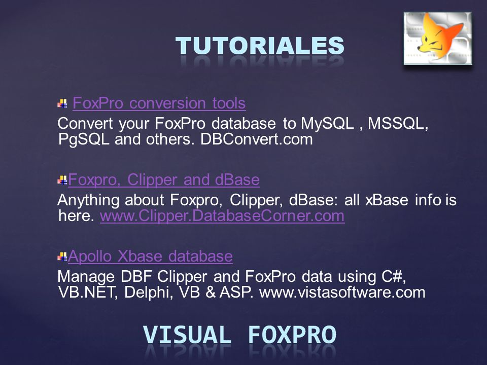 FoxPro conversion tools