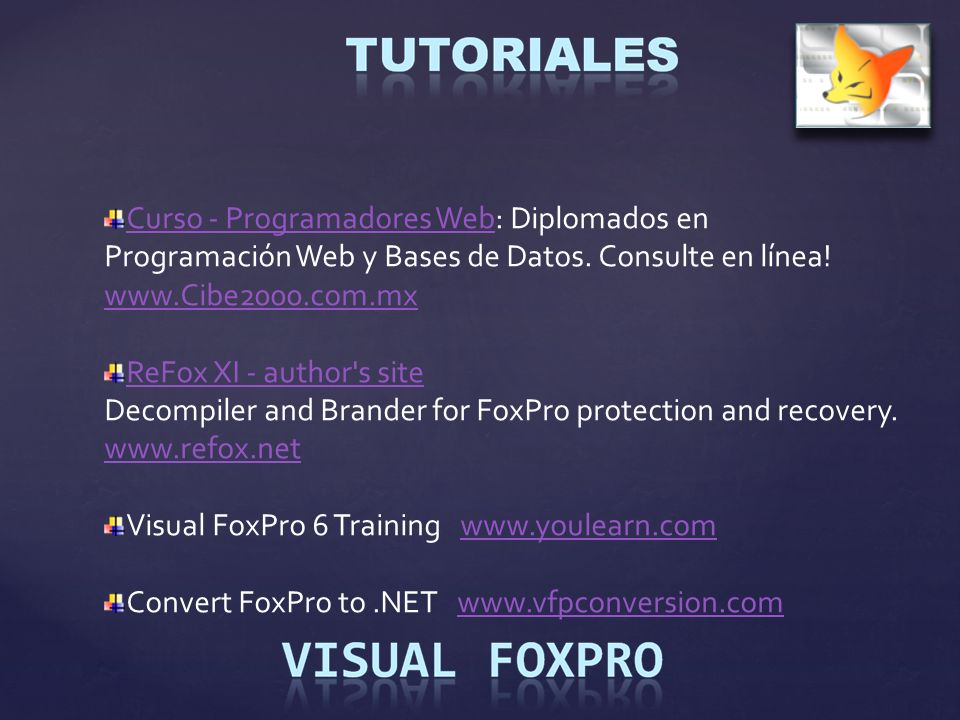 Curso - Programadores Web: Diplomados en Programación Web y Bases de Datos. Consulte en línea! www.Cibe2000.com.mx