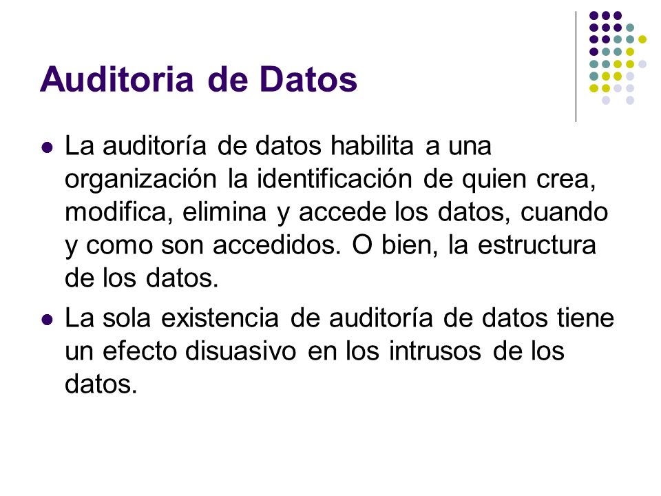 Auditoria de Datos
