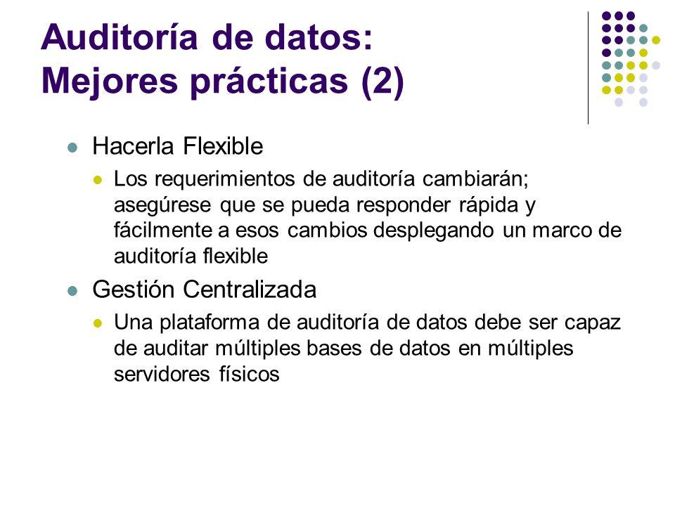 Auditoría de datos: Mejores prácticas (2)