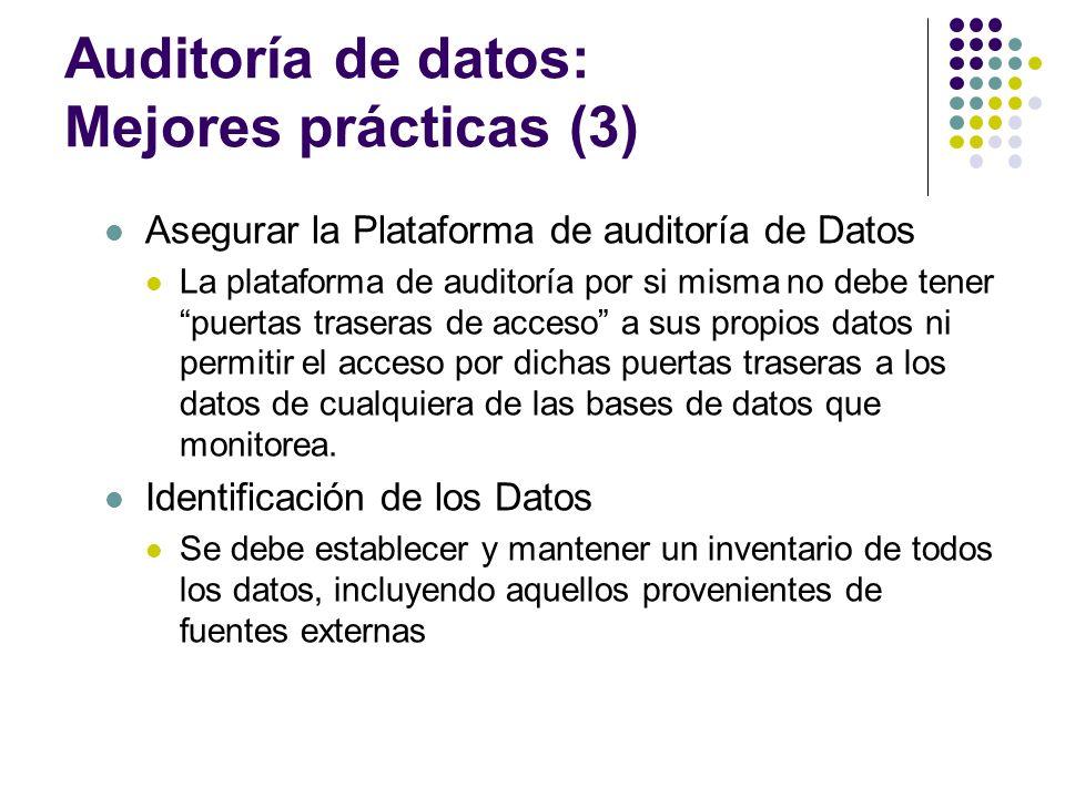 Auditoría de datos: Mejores prácticas (3)