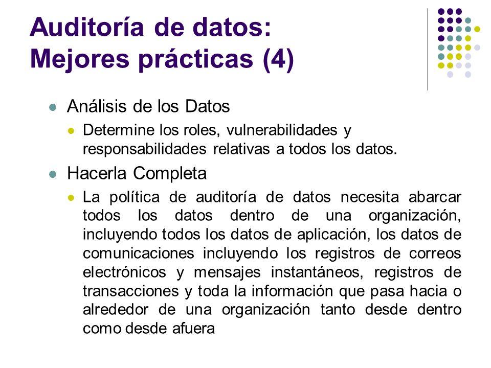 Auditoría de datos: Mejores prácticas (4)