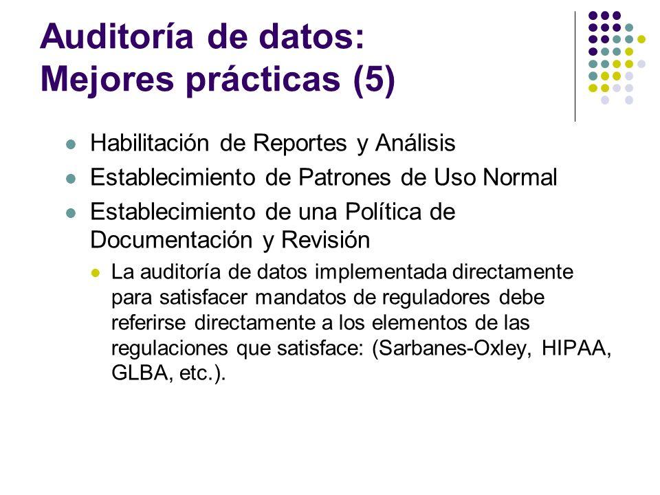 Auditoría de datos: Mejores prácticas (5)