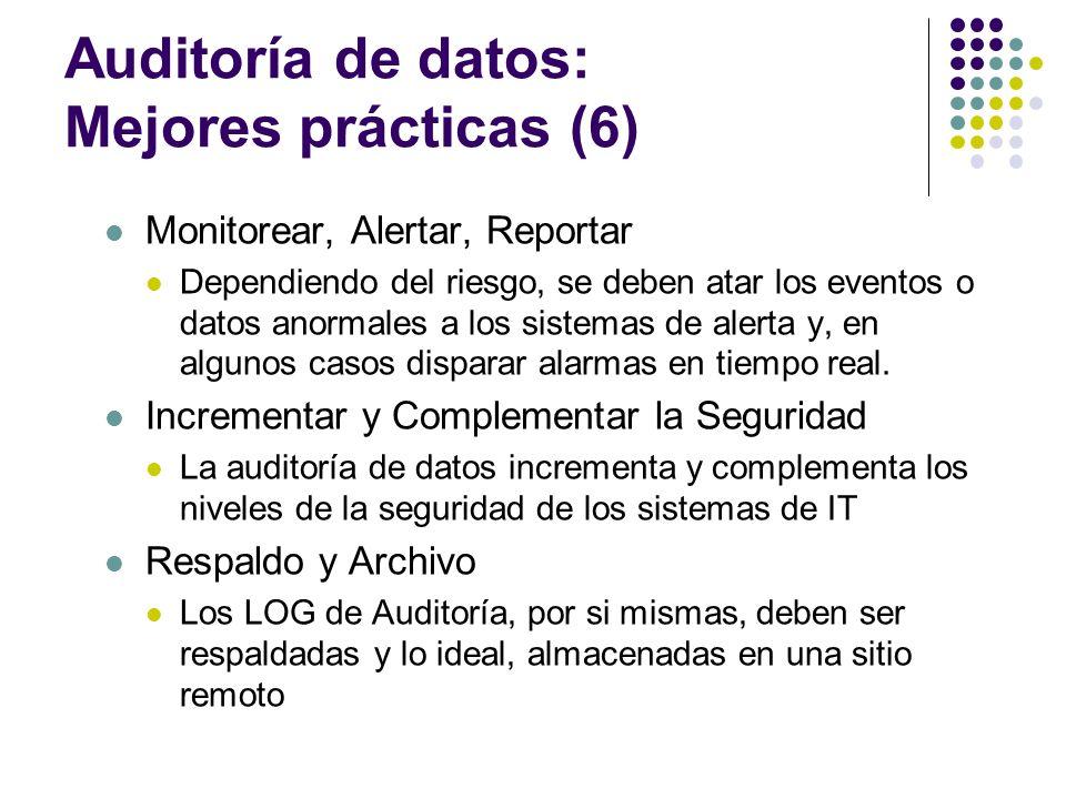 Auditoría de datos: Mejores prácticas (6)