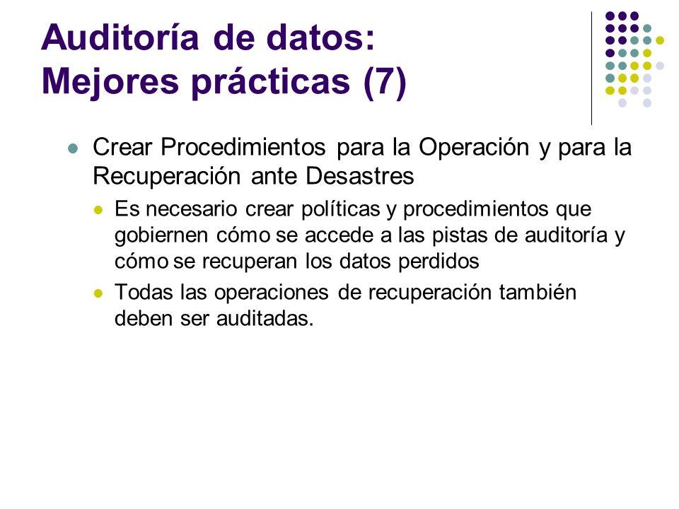 Auditoría de datos: Mejores prácticas (7)