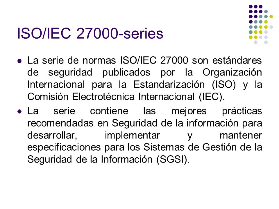 ISO/IEC series