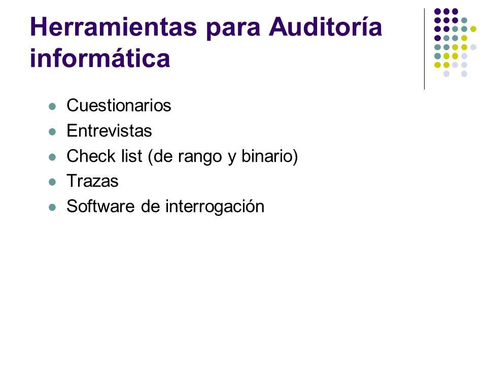 Herramientas para Auditoría informática