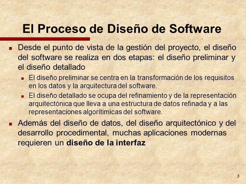 El Proceso de Diseño de Software