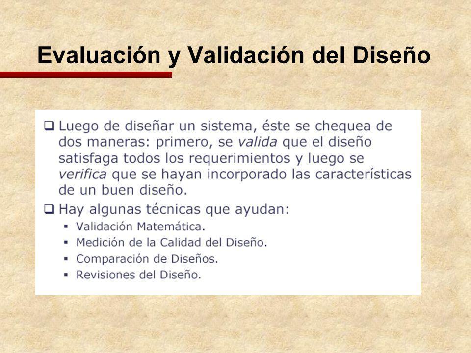 Evaluación y Validación del Diseño