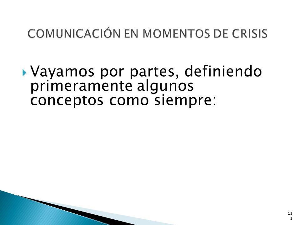 COMUNICACIÓN EN MOMENTOS DE CRISIS