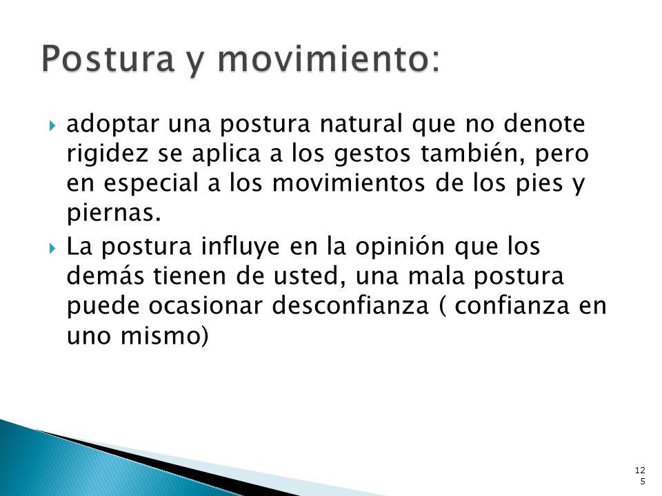 Postura y movimiento: