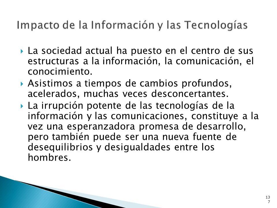 Impacto de la Información y las Tecnologías