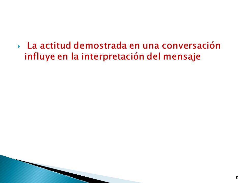 La actitud demostrada en una conversación influye en la interpretación del mensaje