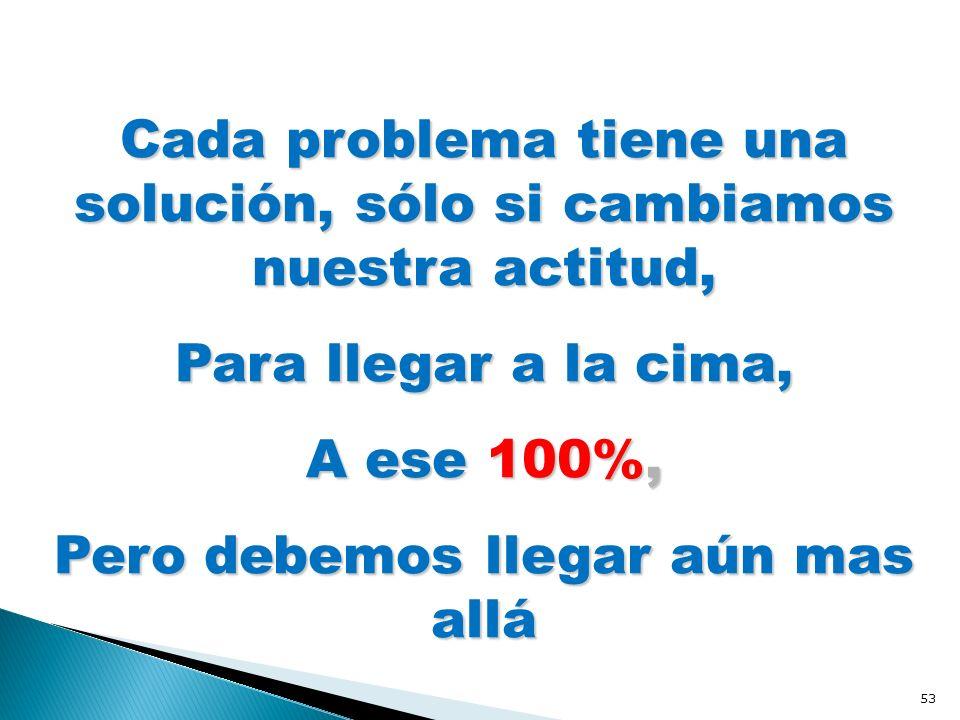 Cada problema tiene una solución, sólo si cambiamos nuestra actitud,
