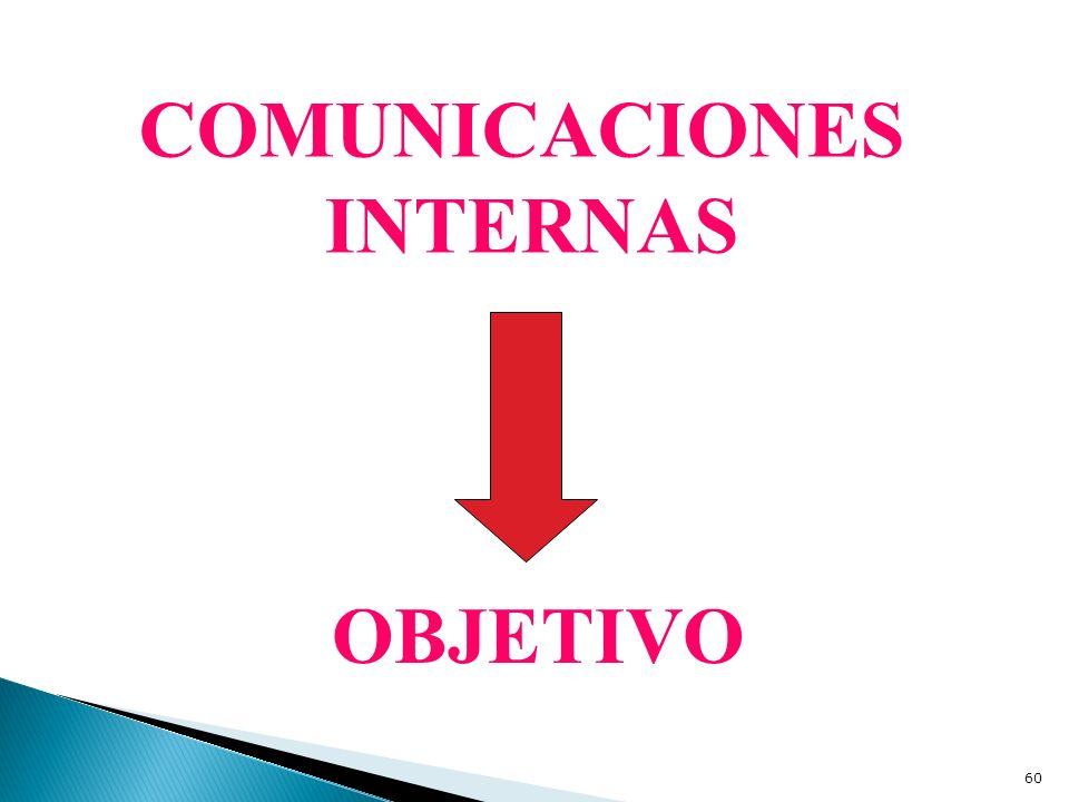 COMUNICACIONES INTERNAS OBJETIVO
