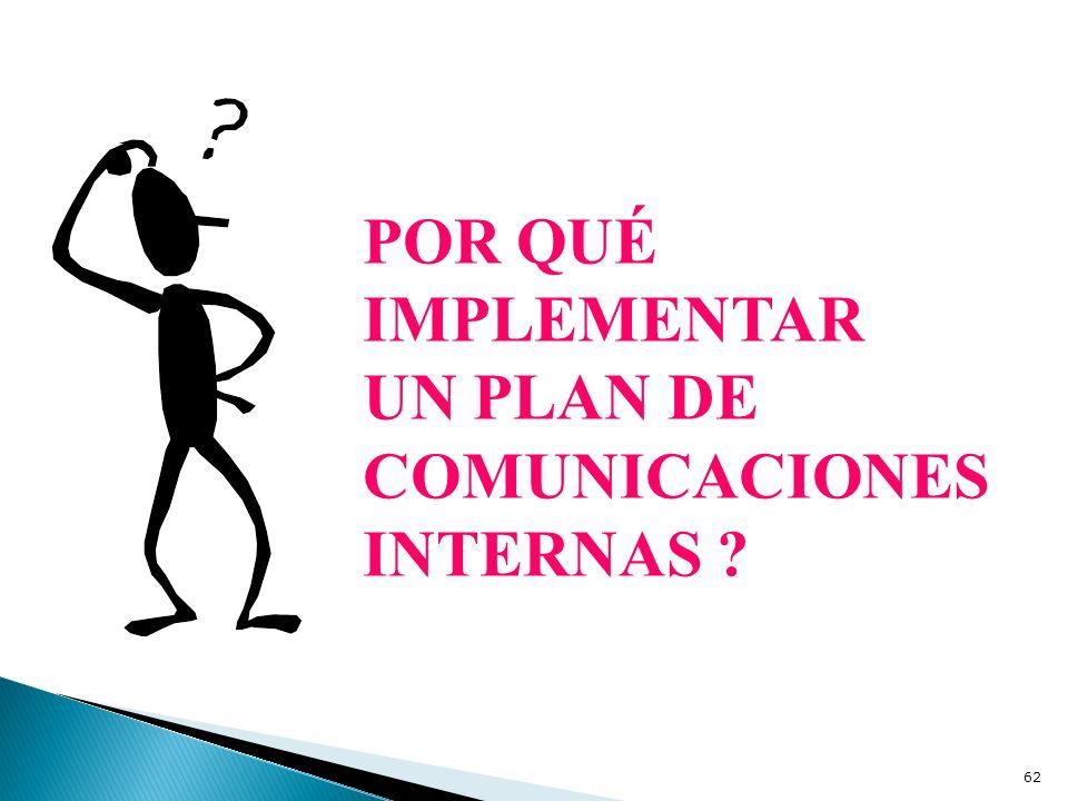 POR QUÉ IMPLEMENTAR UN PLAN DE COMUNICACIONES INTERNAS