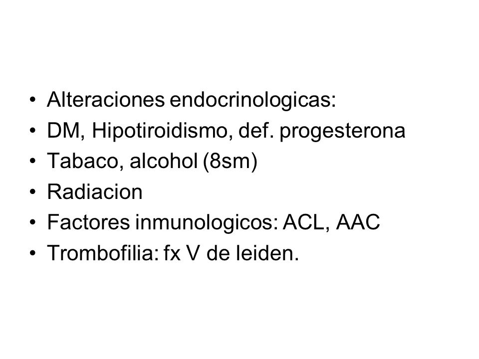 Alteraciones endocrinologicas: