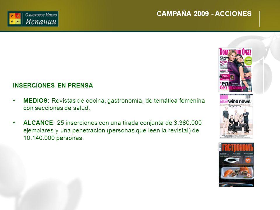 CAMPAÑA 2009 - ACCIONES INSERCIONES EN PRENSA