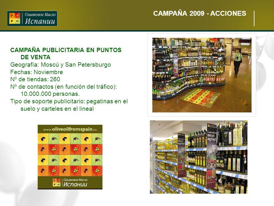 CAMPAÑA 2009 - ACCIONES CAMPAÑA PUBLICITARIA EN PUNTOS DE VENTA
