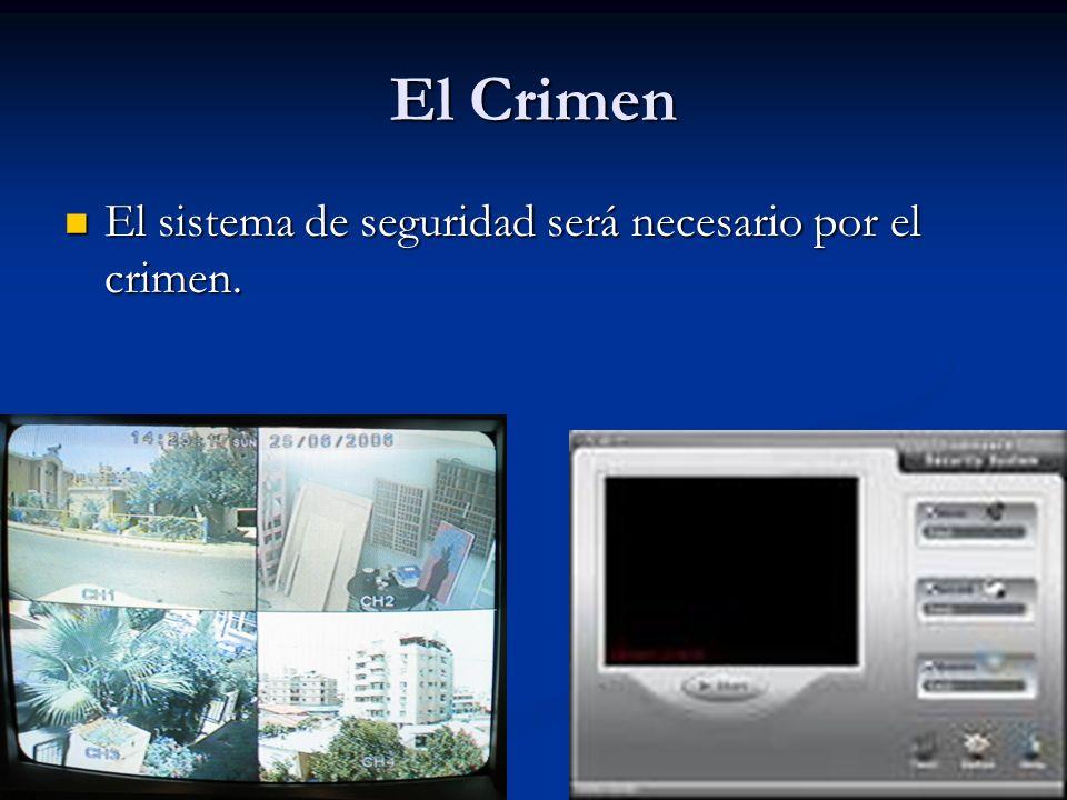 El Crimen El sistema de seguridad será necesario por el crimen.