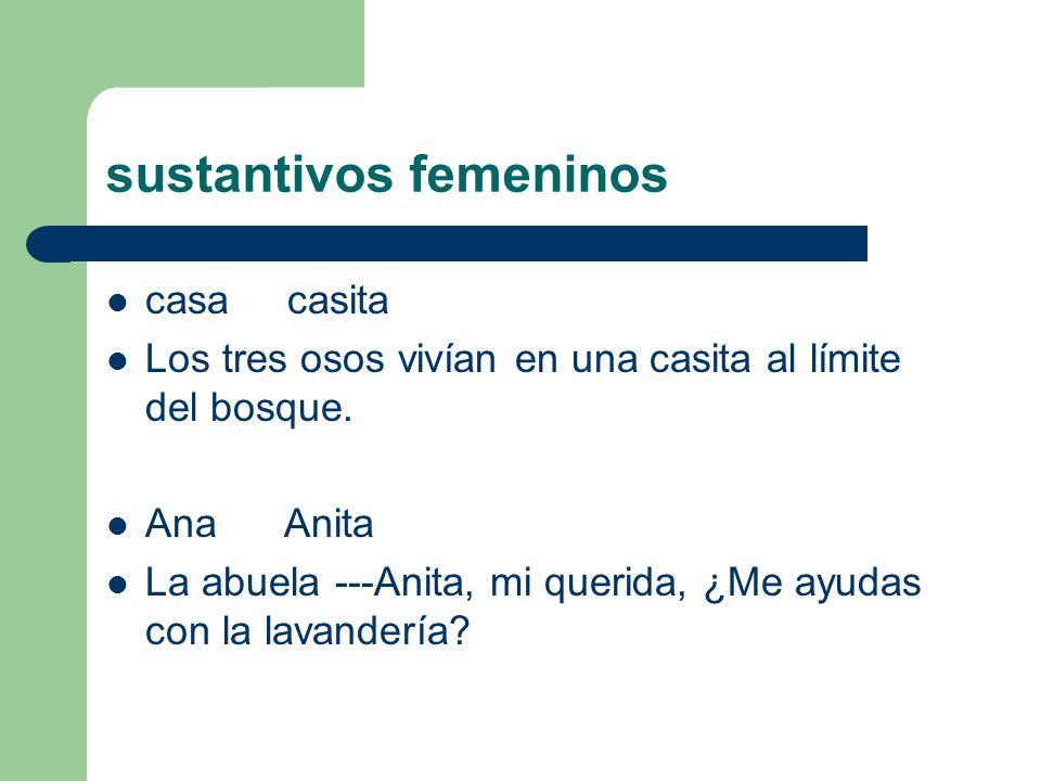 sustantivos femeninos
