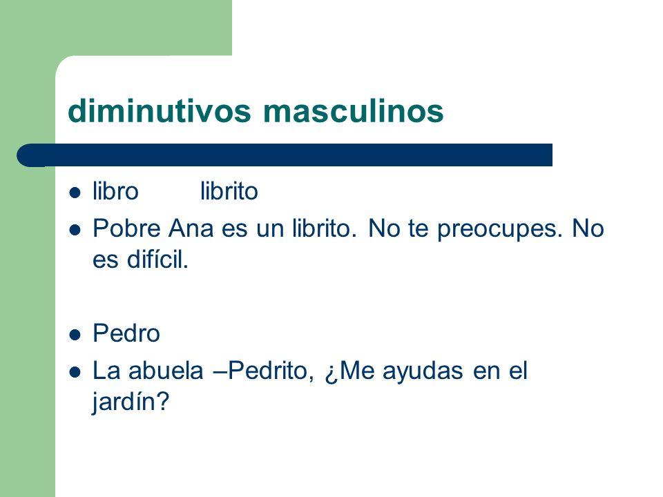 diminutivos masculinos