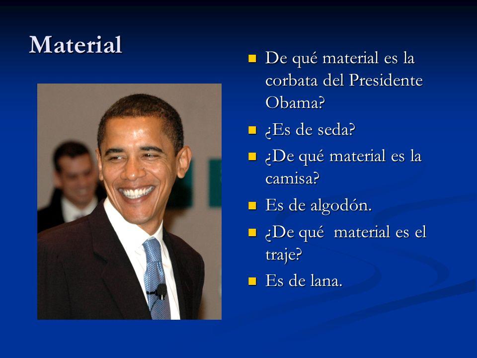 Material De qué material es la corbata del Presidente Obama
