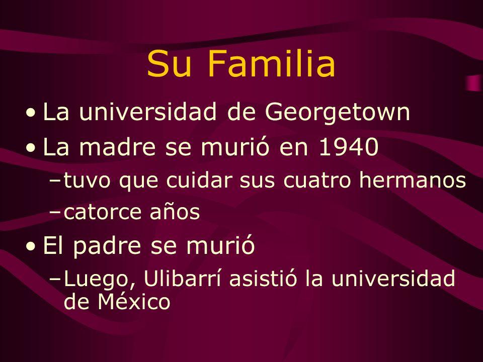 Su Familia La universidad de Georgetown La madre se murió en 1940