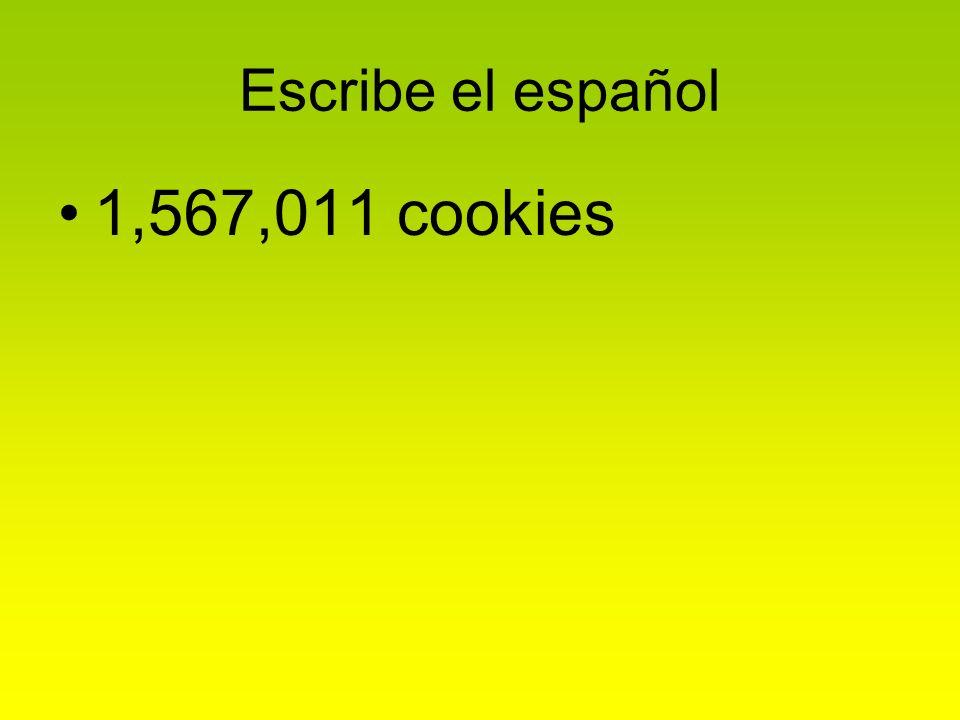 Escribe el español 1,567,011 cookies
