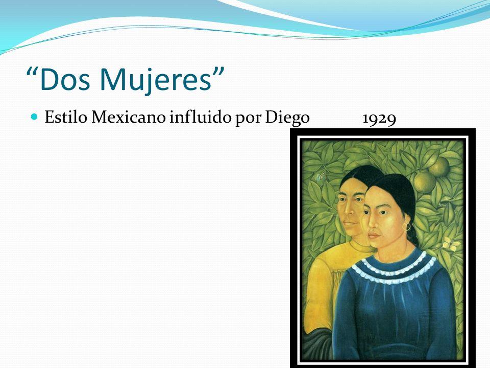 Dos Mujeres Estilo Mexicano influido por Diego 1929