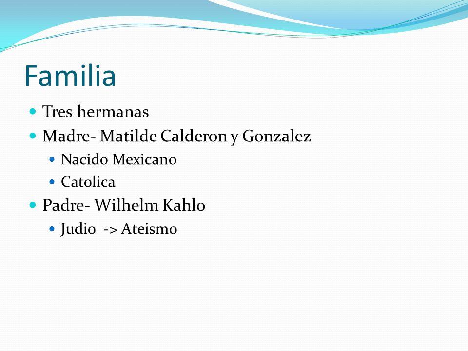 Familia Tres hermanas Madre- Matilde Calderon y Gonzalez