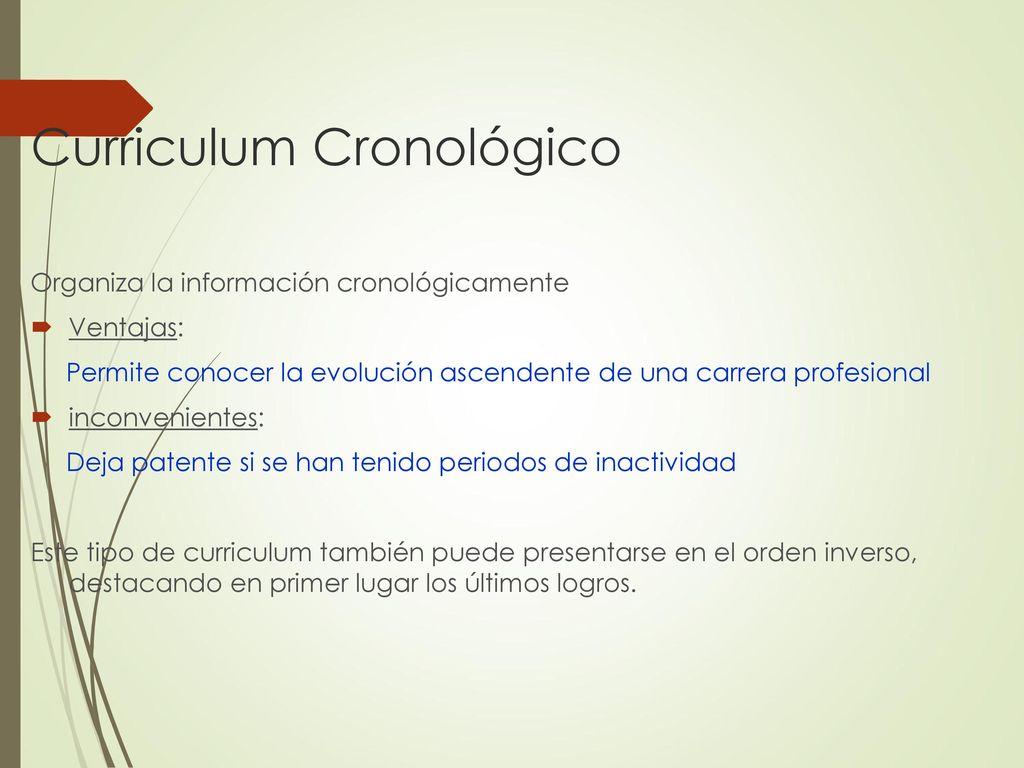 ELABORACIÓN DE UN CURRICULUM VITAE - ppt descargar