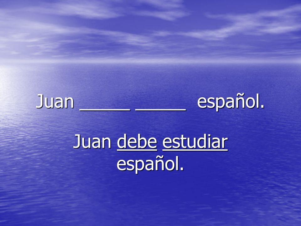 Juan _____ _____ español.