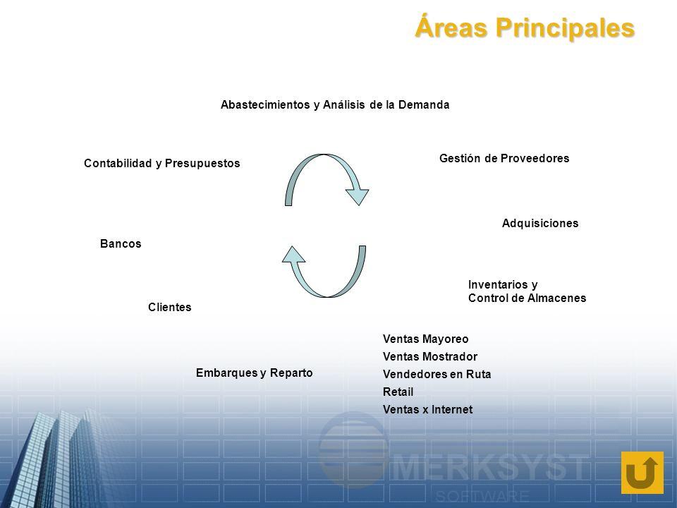 Áreas Principales Abastecimientos y Análisis de la Demanda