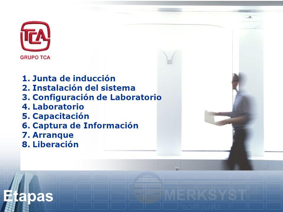 Etapas Junta de inducción Instalación del sistema