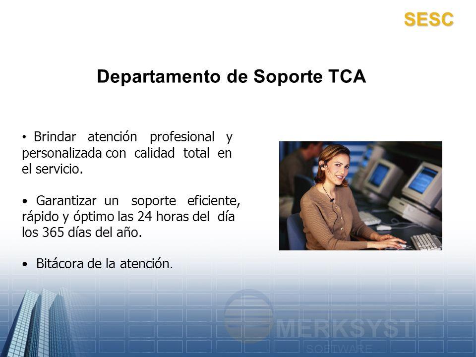 Departamento de Soporte TCA