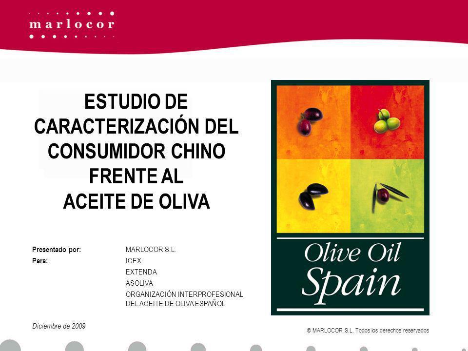 ESTUDIO DE CARACTERIZACIÓN DEL CONSUMIDOR CHINO FRENTE AL ACEITE DE OLIVA