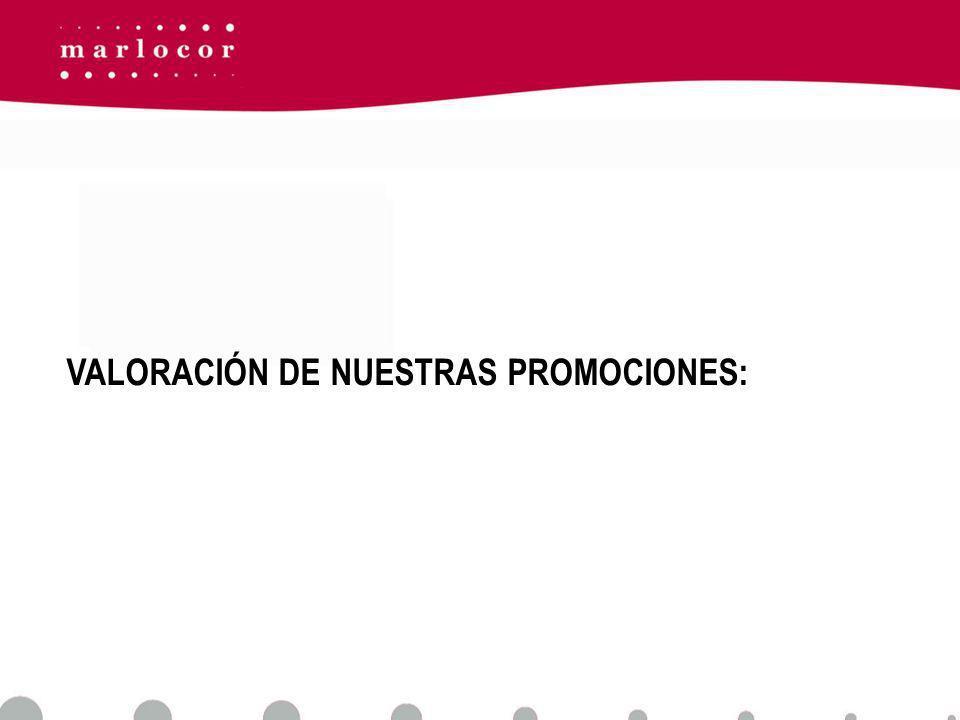 VALORACIÓN DE NUESTRAS PROMOCIONES: