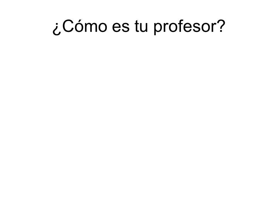 ¿Cómo es tu profesor