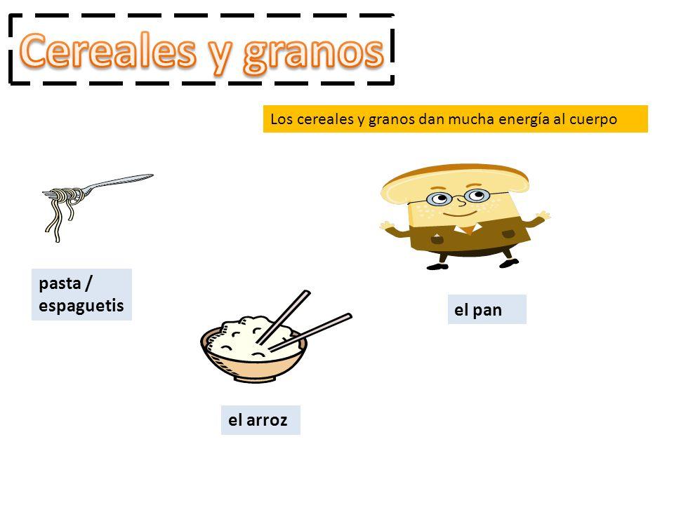 Cereales y granos pasta / espaguetis el pan el arroz