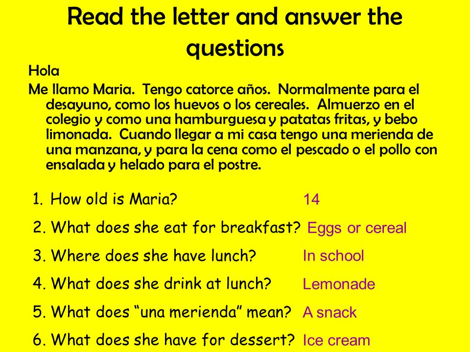 Read the letter and answer the questions