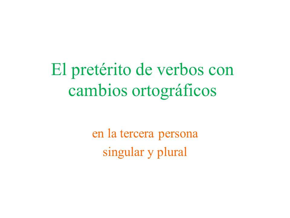 El pretérito de verbos con cambios ortográficos