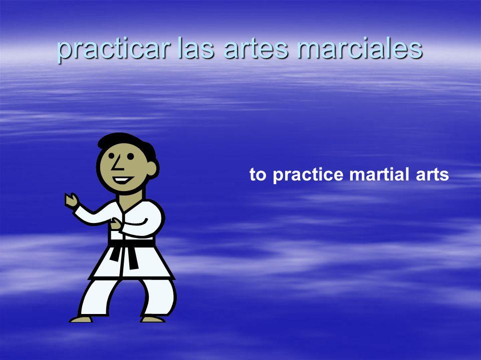 practicar las artes marciales