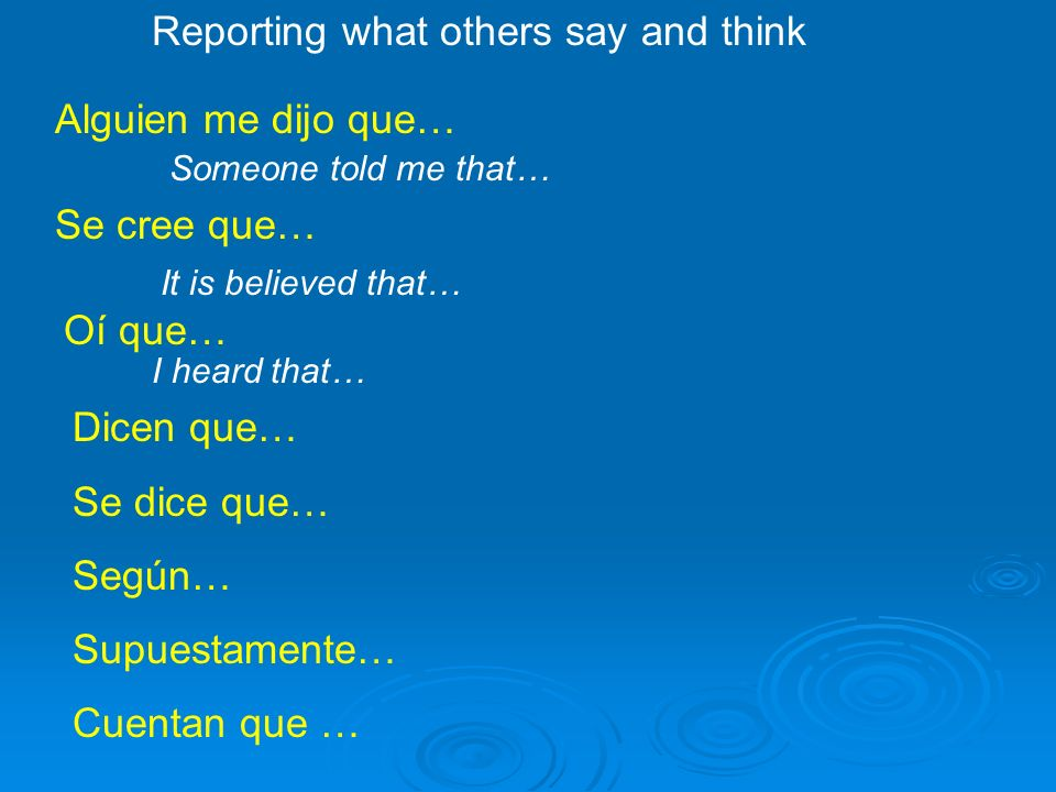 Reporting what others say and think