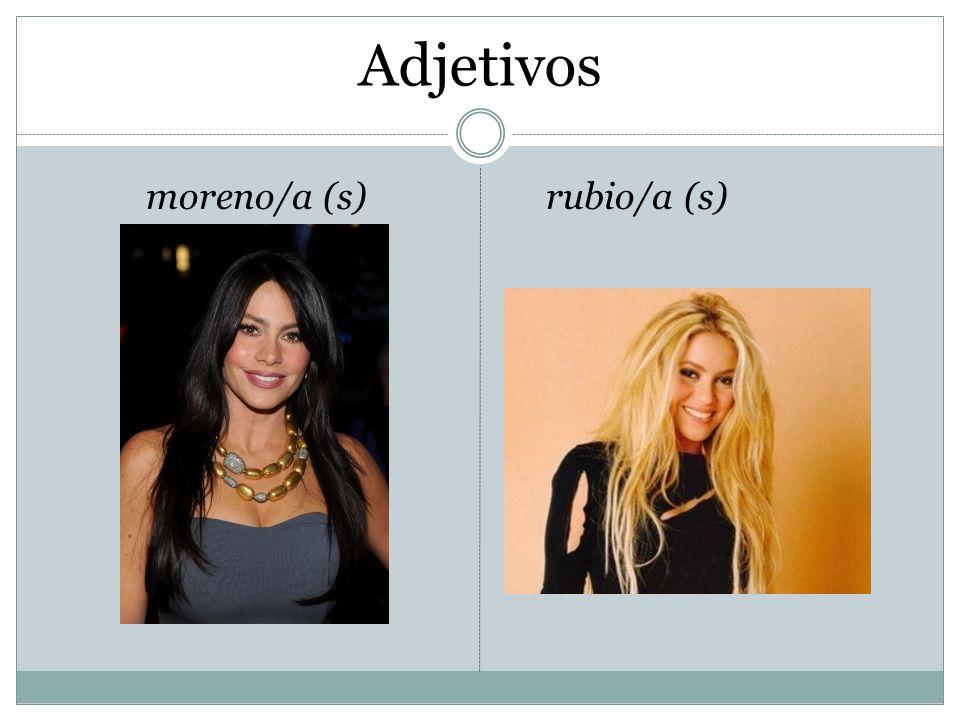 Adjetivos moreno/a (s) rubio/a (s)