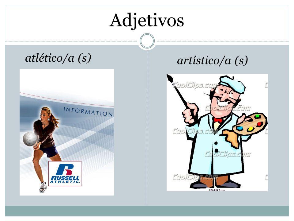 Adjetivos atlético/a (s) artístico/a (s)