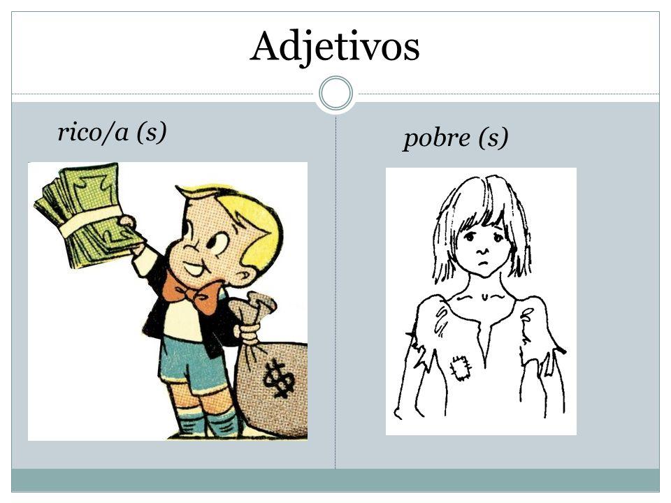 Adjetivos rico/a (s) pobre (s)