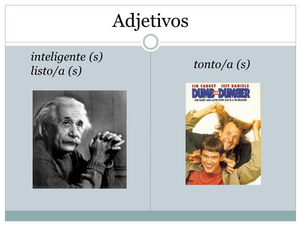 Adjetivos inteligente (s) listo/a (s) tonto/a (s)